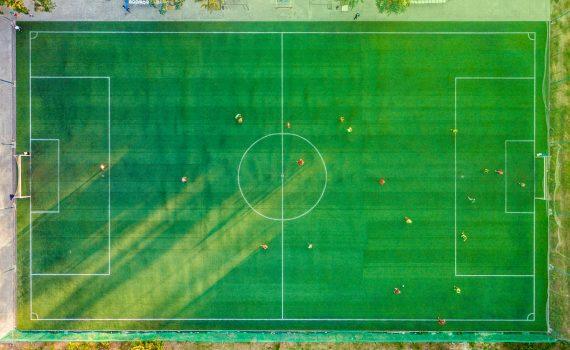 terrain de foot vue aérienne